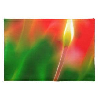 De groene, Rode en Gele Gloed van de Tulp Placemat