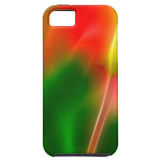 De groene, Rode en Gele Gloed van de Tulp Tough iPhone 5 Hoesje