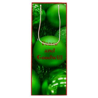De groene Rode van de Goodwill van de Vakantie Wijn Cadeautas