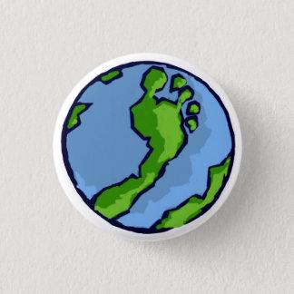 De Groene Ronde van het Wereldbol van de Voet BRS Ronde Button 3,2 Cm