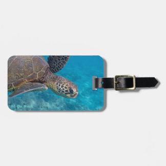 De groene Schildpad van het Zee Kofferlabels