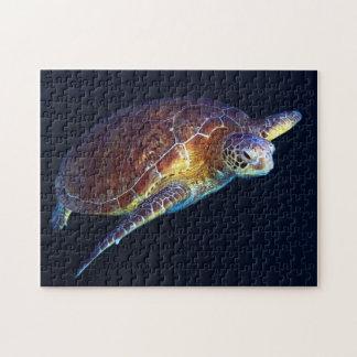 De groene Schildpad van het Zee - Puzzel Puzzel