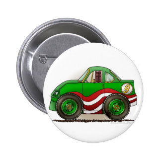 De groene Spelden van de Auto van de Voorraad Ronde Button 5,7 Cm