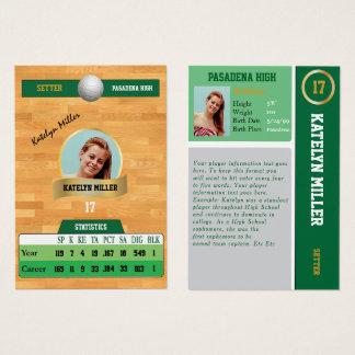 De groene Sporten die van het Volleyball Kaart met Visitekaartjes