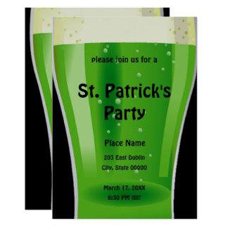 De groene St. Patrick van het Bier Uitnodiging van