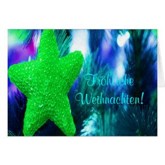 De Groene Ster van Kerstmis van Weihnachten van Wenskaart