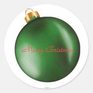 De groene Sticker van het Ornament van de Bol