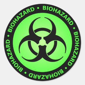 De groene Sticker van het Symbool Biohazard