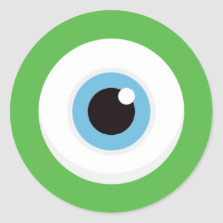De groene stickers van het monsteroog