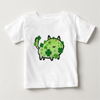 De groene T-shirt van het Baby van de Kat van de