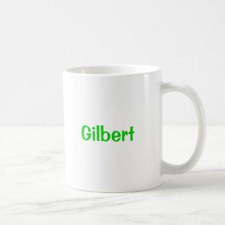 De Groene Tekst van de Mok van de Naam van Gilbert