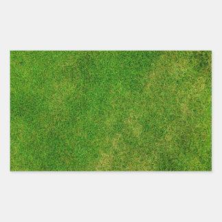 De groene Textuur van het Gras Rechthoekige Sticker