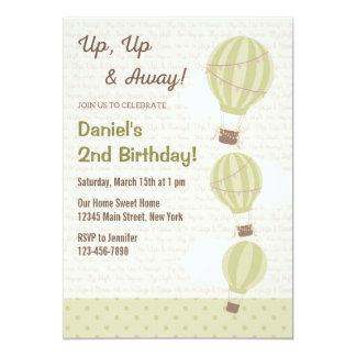 (De Groene) Uitnodiging van de Verjaardag van de 12,7x17,8 Uitnodiging Kaart