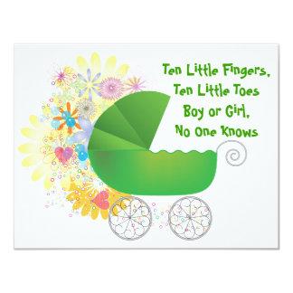 De groene Uitnodiging van het Baby shower van de