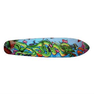 De groene Vectoren van de Draak - het Dek van 19,7 Cm Skateboard Deck