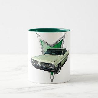 De groene Ventura van 1961 Bovenkant van de Bel Tweekleurige Koffiemok