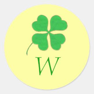 De groene Verbindingen van het Huwelijk van het Mo Ronde Stickers