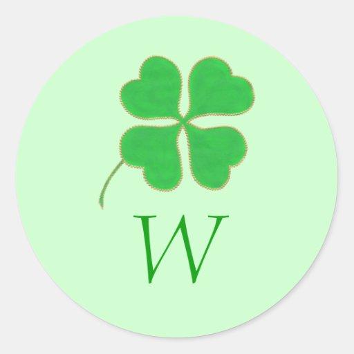 De groene Verbindingen van het Huwelijk van het Ronde Stickers