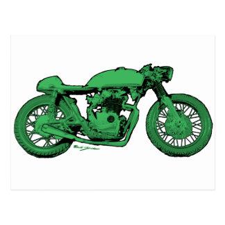 De groene Vintage Motorfiets van de Raceauto van d