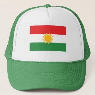 De GROENE Vlag van Koerdistan Trucker Pet