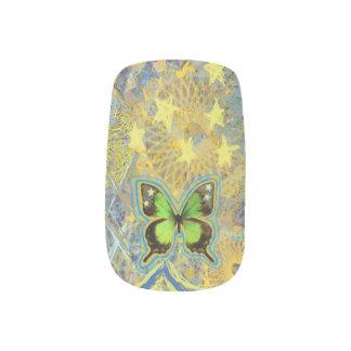De Groene Vlinders van het sterrelicht Minx Nail Folie