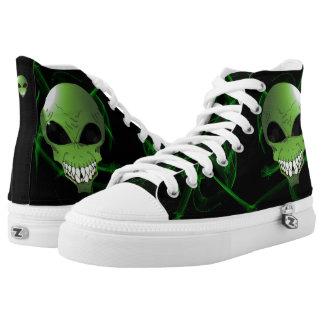 De groene vreemde Schoenen van Zipz van de Douane