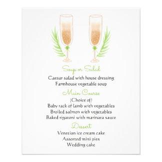 De groene & Witte Glazen van Champagne van de Folder