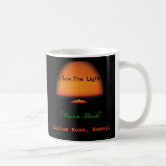 De groene Zonsondergang van de Flits Koffiemok
