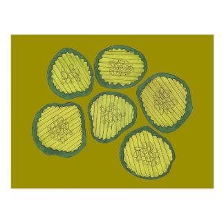 De groenten in het zuur breken het Groene Kosjer Briefkaart