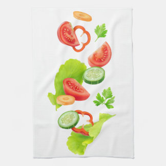De groenten van de besnoeiing theedoek
