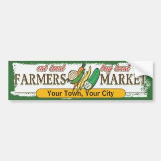 De Groenten van de Markt van de Landbouwers van de Bumpersticker