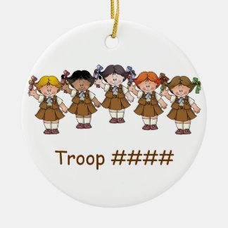 De Groep van de brownie Rond Keramisch Ornament