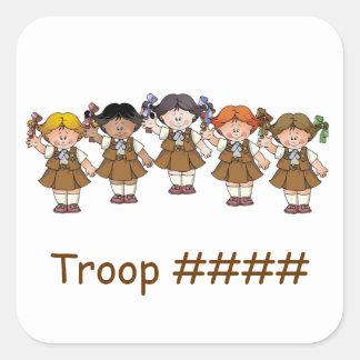 De Groep van de brownie Vierkante Sticker