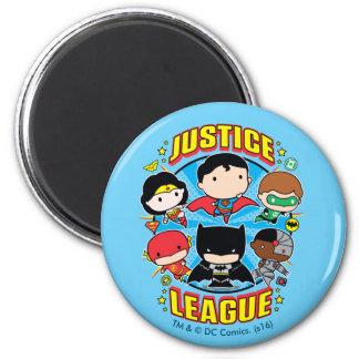 De Groep van de Liga van de Rechtvaardigheid van Ronde Magneet 5,7 Cm