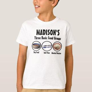 De Groepen van het Voedsel van Madison T Shirt