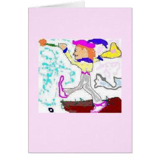 De Groet van de Dwaas van het tarot (roze Kaart