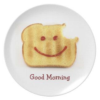 De Groet van de Goedemorgen van Toasty Bord