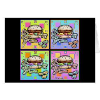 De GROET van de HAMBURGER van het pop-art - de Briefkaarten 0