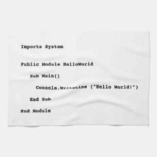 De Groet van de Wereld van Visual Basic Hello Theedoek