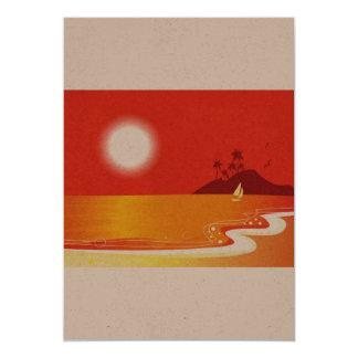 De groet van het document met Rode kust 12,7x17,8 Uitnodiging Kaart