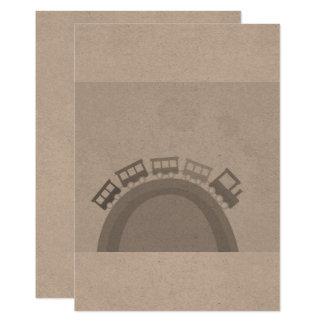 De groet van het document met trein 12,7x17,8 uitnodiging kaart
