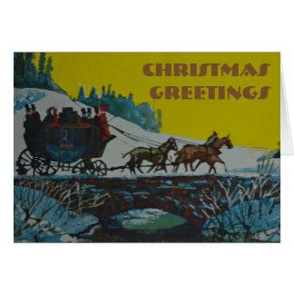 De groet van Kerstmis - Kerstkaart Kaart