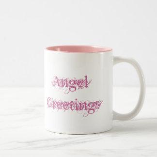 De Groeten van de engel Tweekleurige Koffiemok