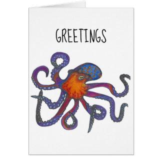 De Groeten van de octopus Kaart