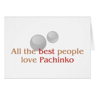 De groeten van de speler van Pachinko Wenskaart