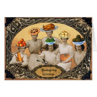 De Groeten van de Thanksgiving Kaart