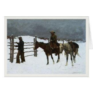 De Groeten van de Winter van de cowboy met het Kaart