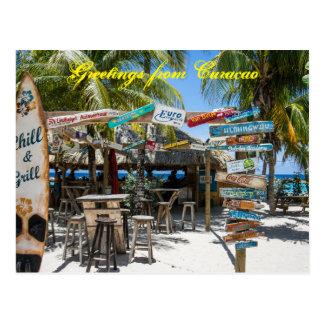 De Groeten van het briefkaart van Curacao