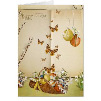 De Groeten van Pasen van de vlinder Wenskaart