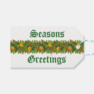De Groeten van seizoenen Cadeaulabel